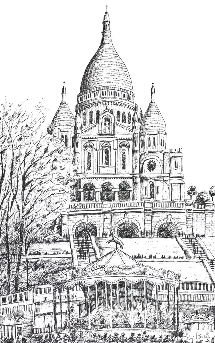 Sacre Coeur, Paris (Sketch)
